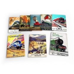 Railway Trains 8 X Plastic Poster Fridge Magnets