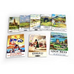 Scotland Vintage Travel 8 X ..
