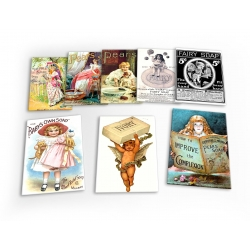 Soap Vintage Set A 8 X Plastic Poster Fridge Magnets