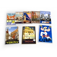 World Travel Holiday Vintage 8 X Plastic Poster ..