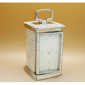 Mr And Mrs Crystal Carriage Clock Made With Swarovski Elements