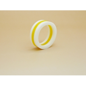 Unisex Colour Contrast Abstract Art Ring