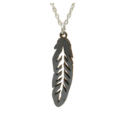Unisex Feather Charm Necklace