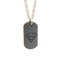 Unisex Superman Woman Tag Charm N..