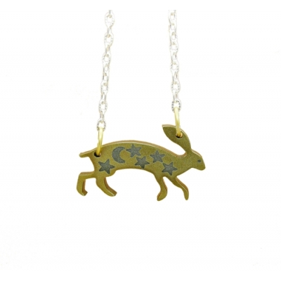 Majestic Golden Hare Necklace