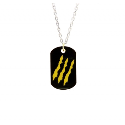 Unisex Wolverine Deluxe Dog Tag Necklace