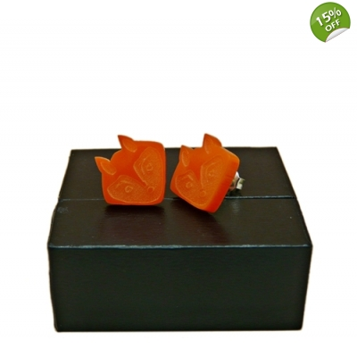 Fox face Stud Earrings title=