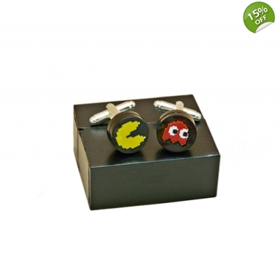 Pacman Retro Gaming Cufflinks title=