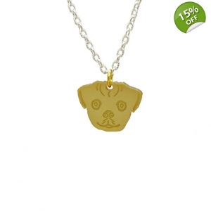 Pug Dog Charm Necklace