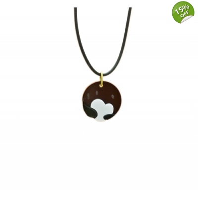 Deluxe Pluto Planet Charm Necklace title=