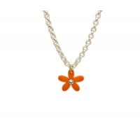 Crystallised Daisy Charm Necklace