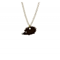 Bejeweled Hedgehog Charm Necklace