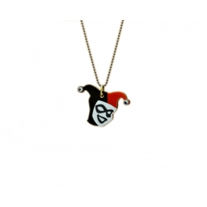Harley Quinn Bejeweled Charm necklace