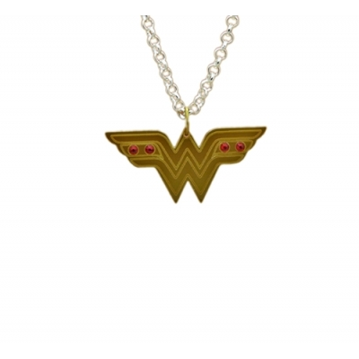 Wonder Woman Bejeweled Charm Necklace
