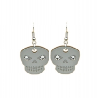Crystallised Skull Candy Earrings