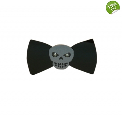 Skull Bow tie title=