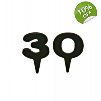 Numbered Cake Topper Picks