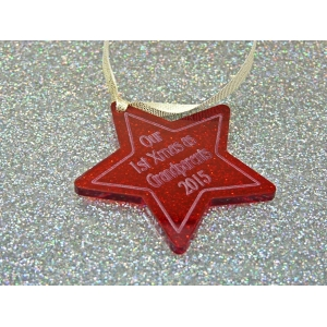 Personalised Christmas Star Tree decoration