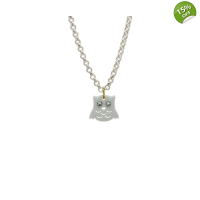 Snowy Owl Necklace title=