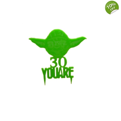 Yoda Personalised Keepsake Cake Topper title=
