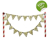 Keepsake Bunting Cake Topper Packs