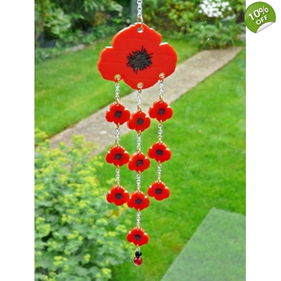 Limited Edition Poppy Wind Chime title=