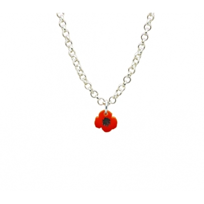 Wild poppy Necklace title=