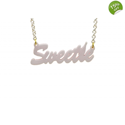 Sweetie or Darling Word Necklace title=