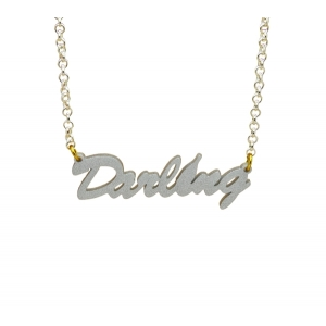 Sweetie or Darling Word Necklace