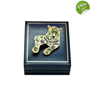 Golden Leopard Brooch