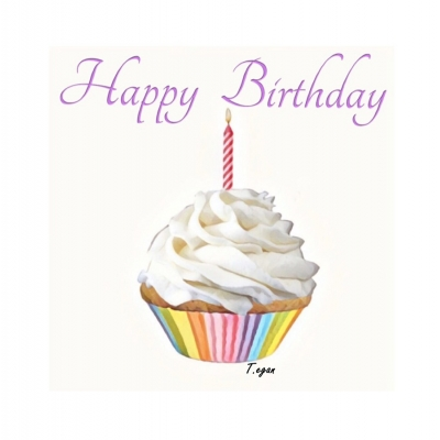Scrumptious Cupcake Birthday Greetings Card