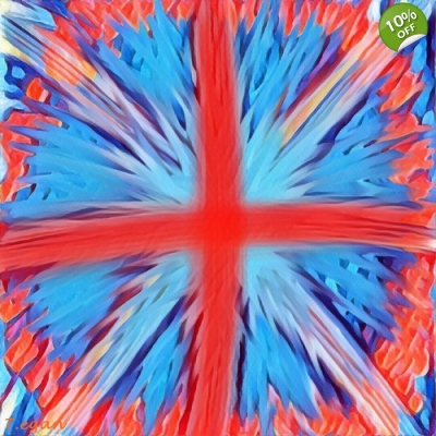Abstract Union Jack Wall Pop Art Print