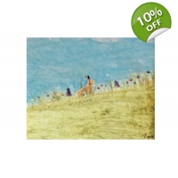 Hare Among The Meadow Art print