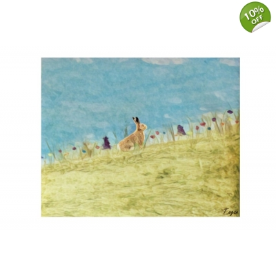 Hare Among The Meadow Art print title=