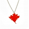 Red Oak Leaf Necklace