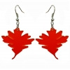 Red Oak Leaf Earrings