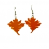 Orange Oak Leaf Earrings