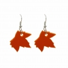 Orange maple Leaf Earri..
