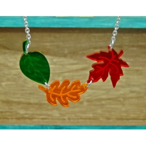 Changing Seasons Leaf Necklace