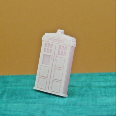 Pink Tardis Phone Box Pin Badge Brooch