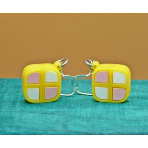 Deluxe Mini Battenburg Cake Slice Earr..
