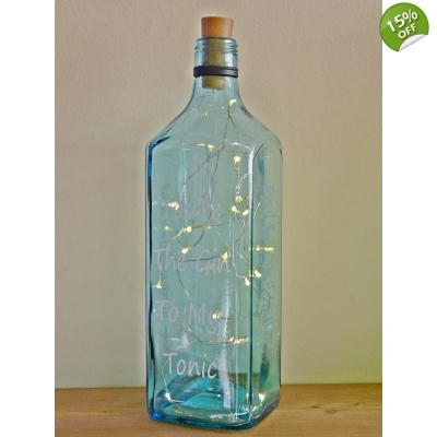 You're The Gin To My Tonic Gin Bottle lamp title=