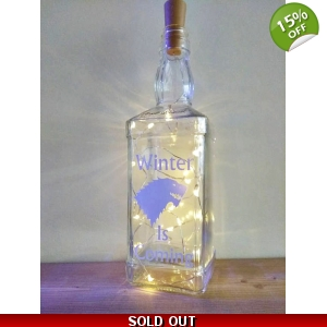 Winter Is Coming Bottle lamp