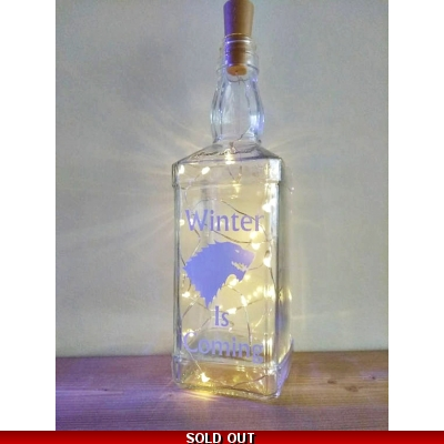 Winter Is Coming Bottle lamp title=