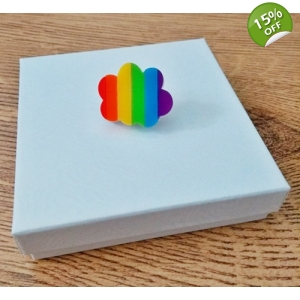 Limited Edition Rainbow Flag Cloud pin badge