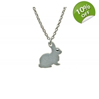 Silver Bunny Rabbit Necklace