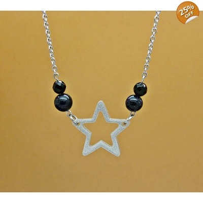 Starry Night Sky Necklace title=