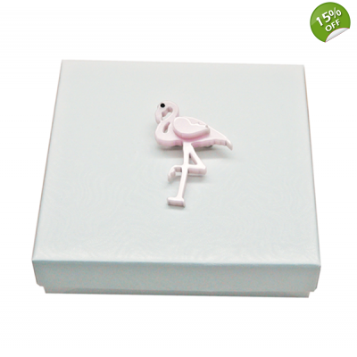Pink Flamingo Pin Brooch title=
