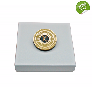 Ltd Edt Golden Vinyl Disc Pin Badge Brooch