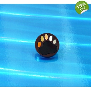 Deluxe Bear Pride Bear Paw pin badge
